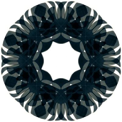 dark green circle mandala-2